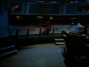 The forward section of the bridge of the derelict USS Defiant