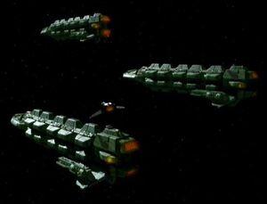 Klingon cargo vessels