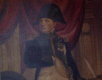 A painting of Napoléon Bonaparte.
