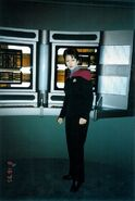 Heather Ferguson at the Voyager command center