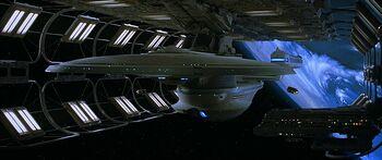 USS Enterprise-B before launch