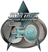 Star Trek The Next Generation 30th anniversary logo