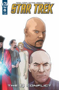 Star Trek The Q Conflict issue 6 cover B