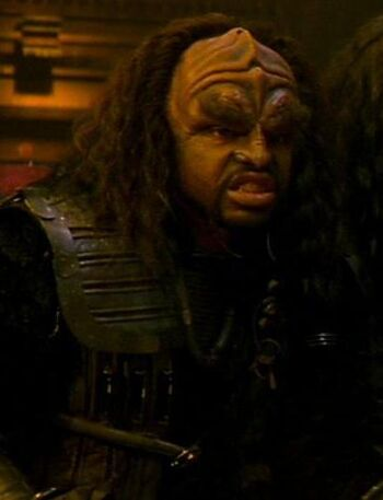 ...as a Klingon guard