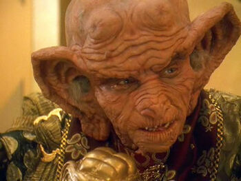 Grand Nagus Gint as he appeared in Quark's dream in 2372