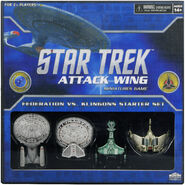 WizKids Attack Wing Federation vs Klingon starter set