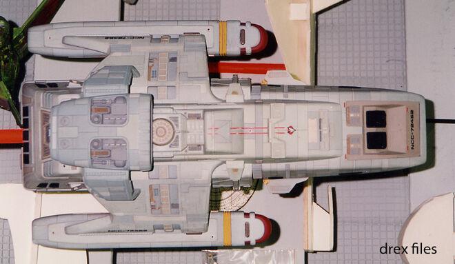 Modell der USS Rio Grande mit Erweiterung von Oben