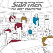 Star Trek The Next Generation Adult Coloring Book cover