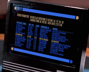 The SS Tomobiki listed on Picard's monitor