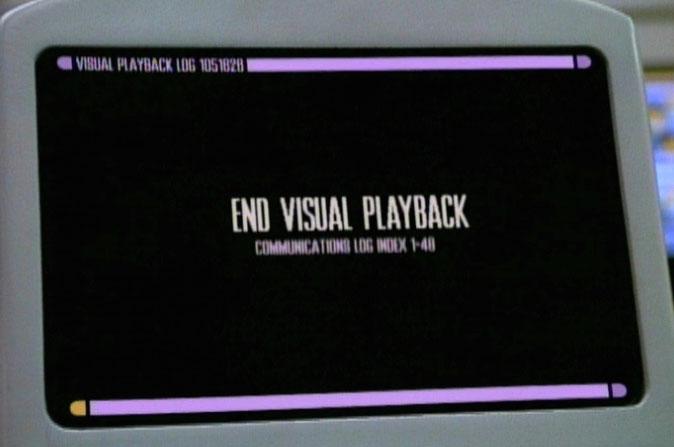 Visual playback log