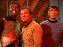 Kang, James T. Kirk, Spock.jpg