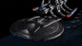 Enterprise (NX-01) leaving drydock.jpg