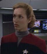 Female voyager command division bridge officer