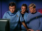 McCoy and medical staff