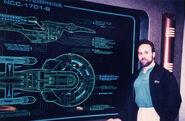 Doug Drexler and Enterprise-B cutaway