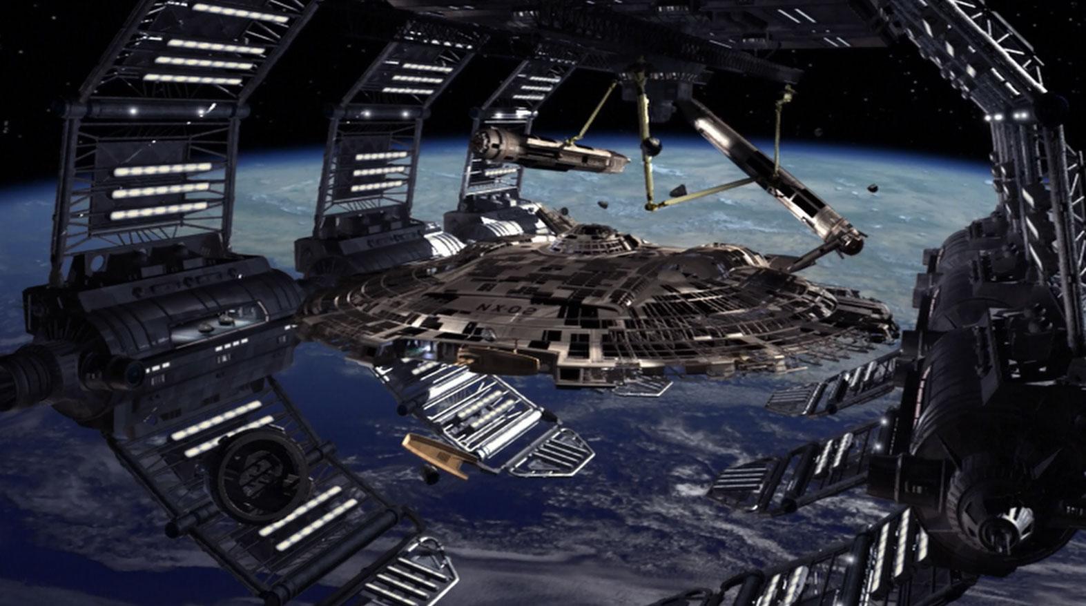 Earth spacedocks