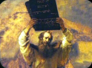 Moses Showing the Tablets of the Law to the People