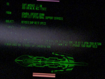 Starfleet Command order received by the USS Gremlin in 2364