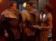 Bashir und O'Brien in irischer Kleidung aus der Zeit der Wikinger