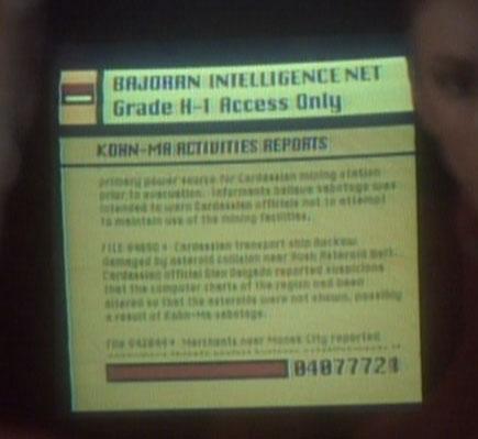 Bajoran Intelligence net