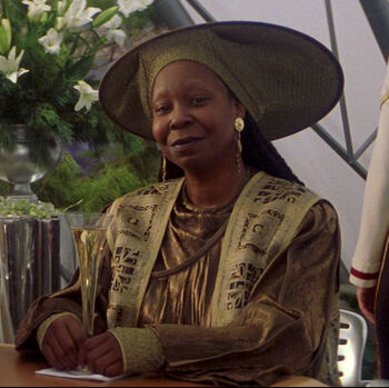 Guinan on Earth (2379)
