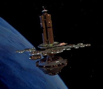 Orbital office complex in orbit of Earth