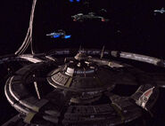 Klingon-Federation vessels patrol DS9