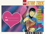 Star Trek Year Five Valentine's Day cover A