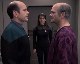 Deanna Troi with The Doctor and Lewis Zimmerman.jpg