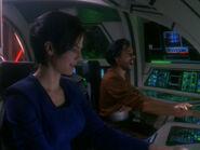 Dax and Bashir pilot Terran raider