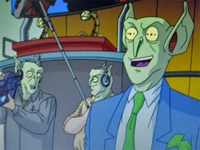 Alien TV crew