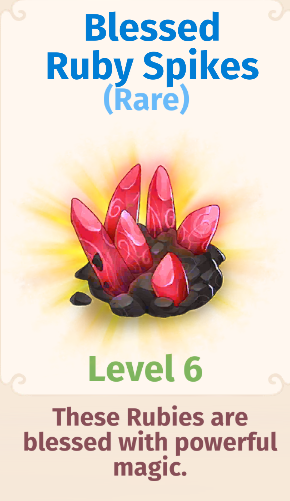 Blessed Ruby Spikes