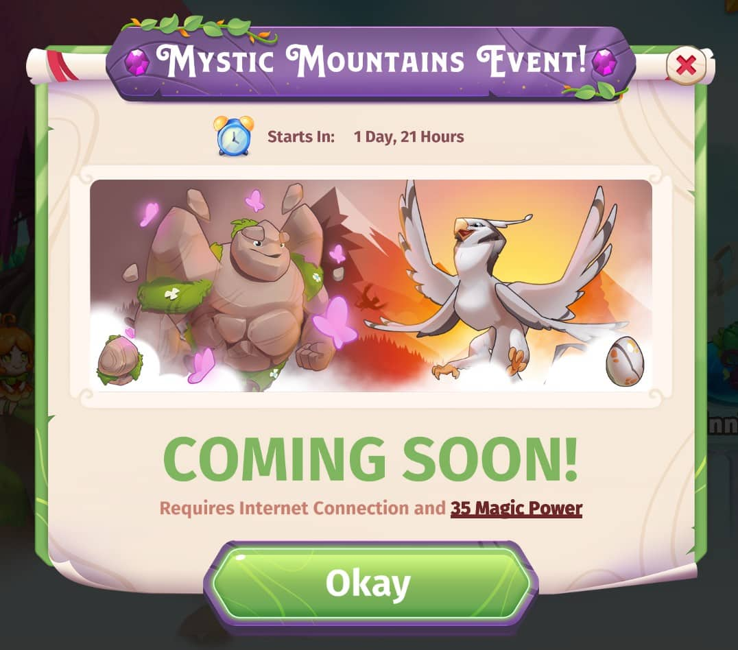 Mystic Mountains Event