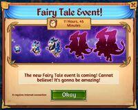 Fairy tale event announcement