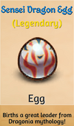 Sensei Dragon Egg