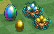 Tiers 1-2 Midas Duck Egg and Nest