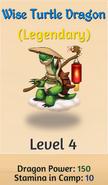 Wise turtle dragon