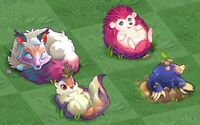 All small fluffs in level