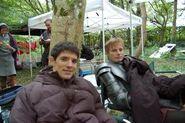 Colin Morgan and Bradley James Behind The Scenes Series 4