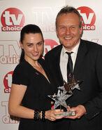 Katie McGrath and Anthony Head
