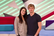 Katie McGrath and Bradley James