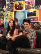 Katie McGrath and Colin Morgan at Comic Con 2012 an MTV Geek