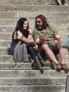 Katie McGrath and Justin Molotnikov Behind The Scenes Series 4