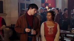 Merlin and Gwen at Lancelot's Celebration