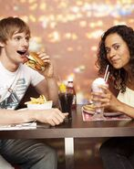 Bradley James and Angel Coulby