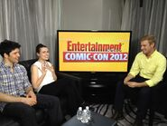 Colin Morgan and Katie McGrath at Comic Con 2012 an Entertainment Weekly