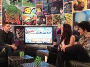 Katie McGrath and Colin Morgan at Comic Con 2012 an MTV Geek-1