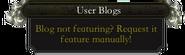 User Blogs