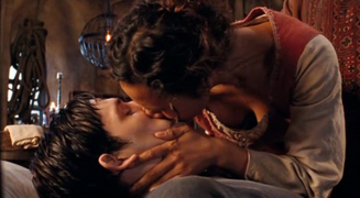 Merlin and Gwen Kiss