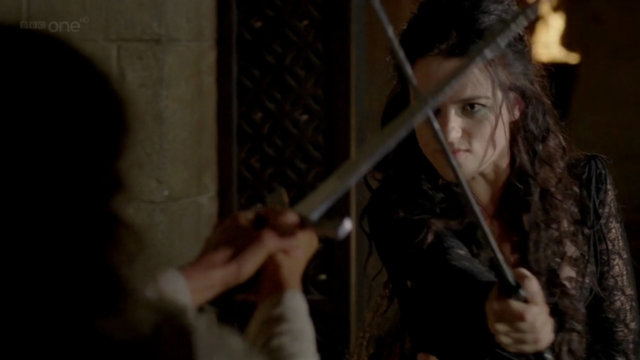 Duel between Guinevere and Morgana